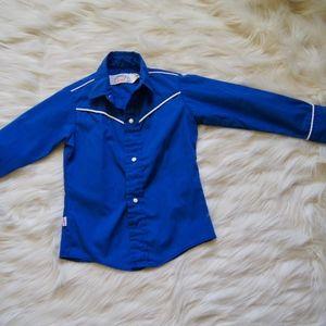 Vintage 70s Levi's Shirt Kids Size 3T Blue